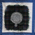Quilt block of the Armstrong crest and tartan