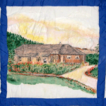 Quilt block of the Liston house in Ceylon