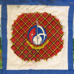 Quilt block with a Salvation Army crest and tartan