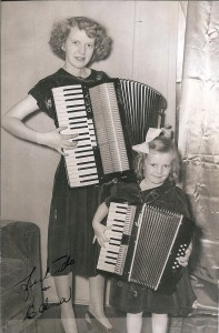 gertrude and edna with accordians